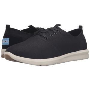 トムズ メンズ スニーカー シューズ・靴 Del Rey Black Linen|fermart-shoes
