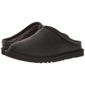 アグ メンズ クロッグ シューズ・靴 Classic Clog Black Leather|fermart-shoes
