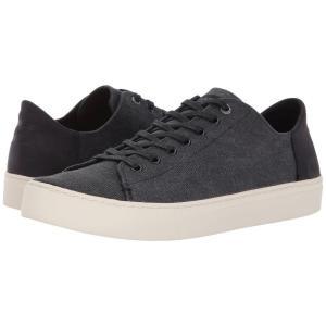 トムズ メンズ スニーカー シューズ・靴 Lenox Black Washed Canvas/Leather|fermart-shoes