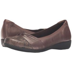 アラヴォン Aravon レディース スリッポン・フラット シューズ・靴 Andrea-AR Bronze|fermart-shoes