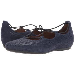 カルソーアースシューズ レディース スリッポン・フラット シューズ・靴 Essen Earthies Navy Printed Suede fermart-shoes