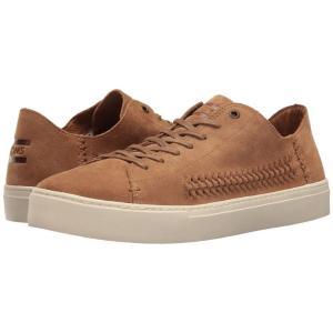トムズ メンズ スニーカー シューズ・靴 Lenox Sneaker Toffee Suede/Woven Panel|fermart-shoes