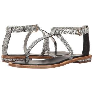 アイソラ レディース サンダル・ミュール シューズ・靴 Mackenzie Black/White Caviar|fermart-shoes