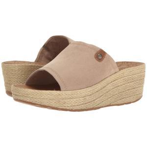 ロックポート レディース サンダル・ミュール シューズ・靴 Lanea Slide Taupe Faux Suede|fermart-shoes