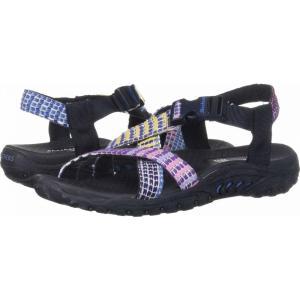 スケッチャーズ SKECHERS レディース サンダル・ミュール シューズ・靴 Reggae Sew What Navy Multi|fermart-shoes