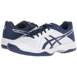 アシックス ASICS レディース スニーカー シューズ・靴 Gel-Tactic 2 Real White/Deep Ocean|fermart-shoes