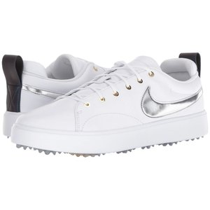 ナイキ Nike Golf メンズ シューズ・靴 ゴルフ Course Classic White/Metallic Silver/Metallic Gold|fermart-shoes