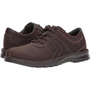 クラークス メンズ 革靴・ビジネスシューズ シューズ・靴 Vanek Walk Dark Brown Leather|fermart-shoes