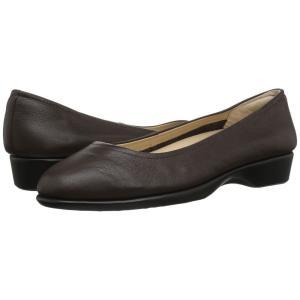 ハッシュパピー Hush Puppies レディース スリッポン・フラット シューズ・靴 Tabee Paradise Dark Brown Leather|fermart-shoes