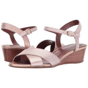 コールハーン レディース サンダル・ミュール シューズ・靴 Elsie Cross Wedge 40 II Rose Gold|fermart-shoes