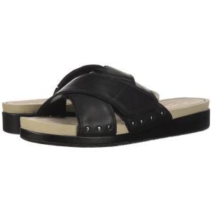 ハッシュパピー Hush Puppies レディース サンダル・ミュール シューズ・靴 Chrysta X-Band Slide Black Leather|fermart-shoes