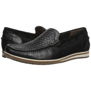 ハッシュパピー Hush Puppies メンズ ローファー シューズ・靴 Bolognese Woven Moc Black Leather|fermart-shoes