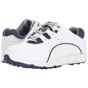 フットジョイ FootJoy メンズ シューズ・靴 ゴルフ Golf Specialty Spikeless Athletic White/Navy fermart-shoes