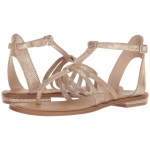 アイソラ Isola レディース サンダル・ミュール シューズ・靴 Marica Gold/Platino Shell Suede/Distressed Foil Suede|fermart-shoes