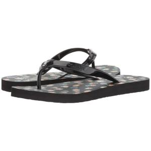 コーチ レディース サンダル・ミュール シューズ・靴 Flip-Flop Black Multi Floral Rubber|fermart-shoes
