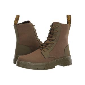 ドクターマーチン Dr. Martens レディース ブーツ シューズ・靴 Combs II Tract DMS Olive Broder/DMS Olive 10oz Canvas|fermart-shoes