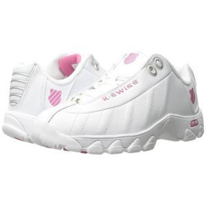 ケースイス K-Swiss レディース スニーカー シューズ・靴 ST329 CMF White/Shocking Pink Leather fermart-shoes