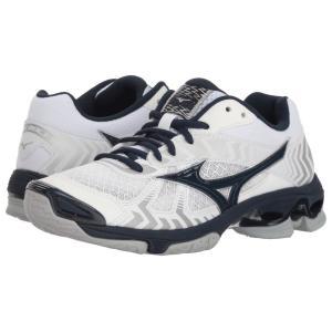 ミズノ Mizuno レディース シューズ・靴 バレーボール Wave Bolt 7 White/Navy fermart-shoes