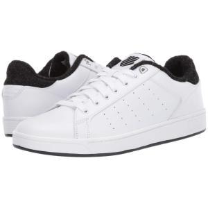 ケースイス K-Swiss メンズ スニーカー シューズ・靴 Clean Court CMF White/Caviar|fermart-shoes