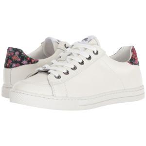 コーチ レディース スニーカー シューズ・靴 C126 Low Top Sneaker White/Black/Pink Floral Leather|fermart-shoes