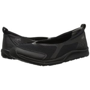 ライカ Ryka レディース スリッポン・フラット シューズ・靴 Finesse Black/Black Fabric/PU|fermart-shoes
