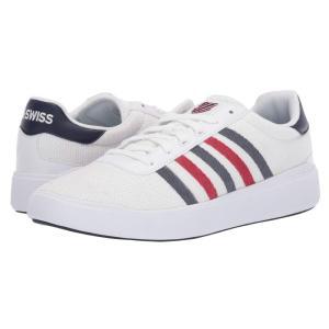 ケースイス K-Swiss メンズ スニーカー シューズ・靴 Heritage Light T White/Navy/Red|fermart-shoes