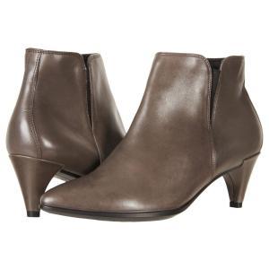 エコー レディース ブーツ シューズ・靴 Shape 45 Sleek Ankle Boot Stone Calf Leather|fermart-shoes