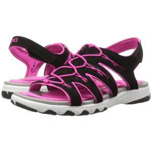 ライカ レディース サンダル・ミュール シューズ・靴 Glance Black/Athena Pink|fermart-shoes