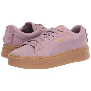 プーマ PUMA レディース スニーカー シューズ・靴 Smash Platform Frill Elderberry/Puma Team Gold fermart-shoes