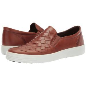 エコー ECCO メンズ スリッポン・フラット シューズ・靴 Soft 7 Woven Slip-On Mahogany|fermart-shoes