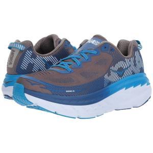 ホカ オネオネ Hoka One One メンズ シューズ・靴 ランニング・ウォーキング Bondi 5 Charcoal Gray/True Blue|fermart-shoes