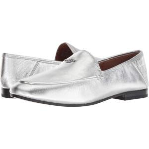 コーチ COACH レディース ローファー・オックスフォード シューズ・靴 Hallie Metallic Loafer Silver|fermart-shoes