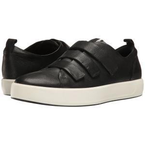 エコー ECCO メンズ スニーカー シューズ・靴 Soft 8 3-Strap Black|fermart-shoes