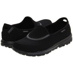 スケッチャーズ SKECHERS Performance レディース スリッポン・フラット シューズ・靴 GOwalk Black|fermart-shoes
