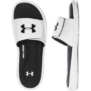 アンダーアーマー Under Armour メンズ サンダル シューズ・靴 Ignite V SL Sandals White/Black|fermart-shoes