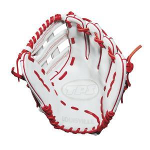 ルイスビルスラッガー Louisville Slugger ユニセックス グローブ 野球 TPS 13 Inch Right Hand Throw Slow Pitch Softball Glove White/Red fermart-shoes