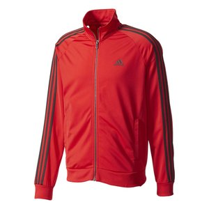 アディダス adidas メンズ ジャージ アウター Essential Tricot Jacket Red/Black|fermart-shoes