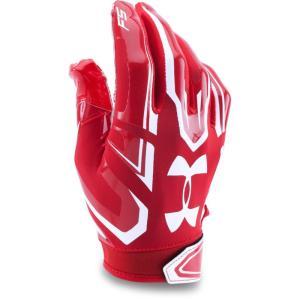 アンダーアーマー Under Armour ユニセックス グローブ アメリカンフットボール Adult F5 Football Gloves Red|fermart-shoes