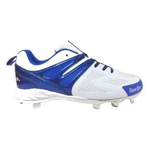 ローリングス Rawlings メンズ シューズ・靴 野球 Conquer Low Metal Baseball Cleat White/Blue|fermart-shoes