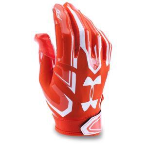 アンダーアーマー Under Armour ユニセックス グローブ アメリカンフットボール F5 Adult Football Gloves Orange|fermart-shoes
