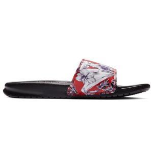 ナイキ Nike レディース サンダル・ミュール シューズ・靴 Benassi Just Do It Slide Black/Orange|fermart-shoes