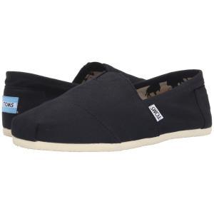 トムズ メンズ ローファー シューズ・靴 Classic Canvas Black|fermart-shoes
