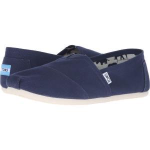 トムズ メンズ ローファー シューズ・靴 Classic Canvas Navy Canvas fermart-shoes