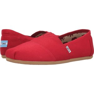 トムズ メンズ ローファー シューズ・靴 Classic Canvas Red fermart-shoes