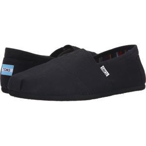 トムズ メンズ ローファー シューズ・靴 Classic Canvas Black on Black Canvas fermart-shoes