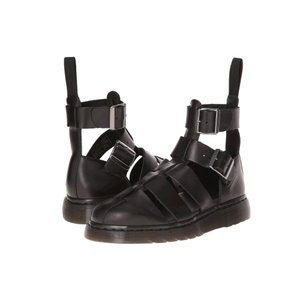 ドクターマーチン メンズ サンダル シューズ・靴 Geraldo Ankle Strap Sandal Black Brando|fermart-shoes