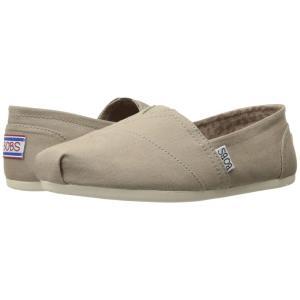 スケッチャーズ レディース スリッポン・フラット シューズ・靴 Bobs Plush - Peace and Love Taupe fermart-shoes