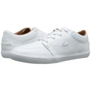 ラコステ メンズ スニーカー シューズ・靴 Bayliss Vulc Prm White/White|fermart-shoes