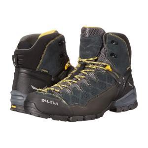 サレワ メンズ スニーカー シューズ・靴 Alp Trainer Mid GTX Carbon/Ringlo|fermart-shoes