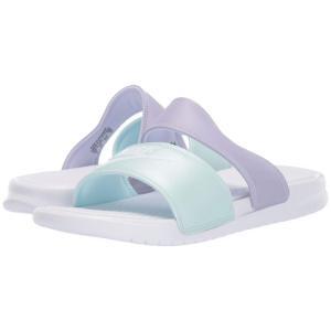 ナイキ Nike レディース サンダル・ミュール シューズ・靴 Benassi Duo Ultra Slide White/White/Oxygen Purple/Teal Tint|fermart-shoes